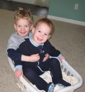 Jimmy & Jakey in a basket